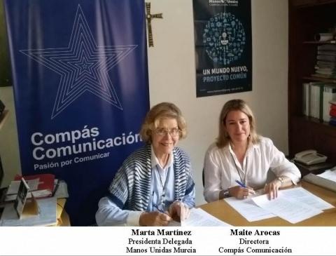 Compás Comunicación, colaborador de Manos Unidas en Murcia.