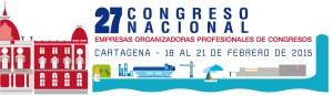 Logo 27 Congreso Nacional de Empresas Organizadoras Profesionales de Congresos 2015.