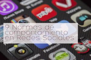 9 normas de comportamiento en redes sociales